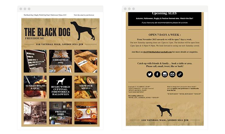 Black dog email newsletter
