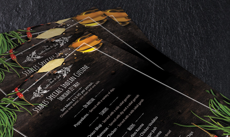 restaurant menu design london